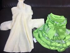 Dog Clothes XS Lot of 2 Green Dress & Yellow Robe New With Tags!