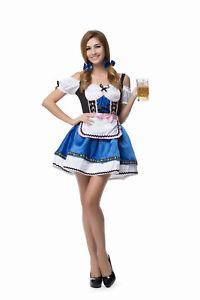 Women's Sexy Oktoberfest Beer Girl Costume Halloween Fancy Dress