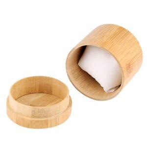 Classic Cylindrical Box Bamboo Wrist Watch Case Nature Wood Jewelry Storage