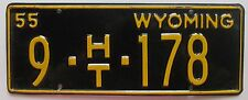 Wyoming 1955 BIG HORN COUNTY HOUSE TRAILER License Plate HIGH QUALITY # 9-HT-178