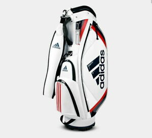 Adidas Golf Tour Basic Men's Caddie Bag CL0602 9Inch 5Way PU Free EMS / White