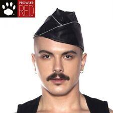 Prowler RED Triangle Cap Black/Grey MEDIUM Leather Retro Military Look