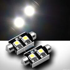 2pc White 36mm Festoon 2x 5050 SMD LED Light Bulb Interior/Door Lamp C5W 12V Set