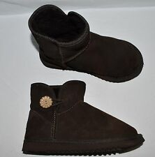 UKALA STELLA MINI SZ 7 M BROWN SUEDE ANKLE BOOTS BOOTIES