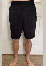 Lululemon Mens Size XL THE Short 9 Linerless Coal Black HTDE Run Yoga Updated