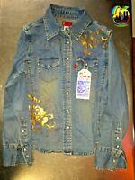 Levi's denim shirt Boho Chic Hippie 60's 70's women's blouse medium 38x30