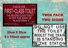 Vintage Style Railway Toilet   Signs  Antique Style Signs British Rail  2 PACK