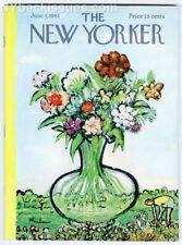 New Yorker magazine June 3 1961 garden flower vase Abe Birnbaum NEAR MINT