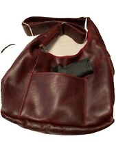 CCW LEATHER WINE/RED SHOULDER BAG