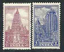 India Stamps 235-36 SG 33b-c Temples MNH VF 1951 SCV
