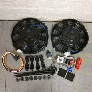 1963 - 1966 Chevrolet C10 Pickup Truck 8 Cooling DUAL FANS Fan Kit 12v max cool