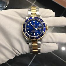 Two Tone Rolex Submariner Date Blue Dial 40mm 16613