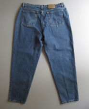 Vtg Womens Levis 522 Mom Jeans High Waist 20 Denim Blue Tapered Short 38""