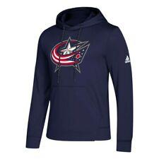 Columbus Blue Jackets NHL Adidas Men's Navy Hockey Finished Pulllover Hoodie