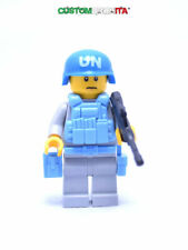 Lego Custom United Nations SOLDIER UN minifigure w/Gear -NEW- Custombrickita