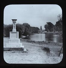 c1890s Magic Lantern Slide Photo Staines The London Stone Thames James Valentine