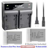 Kastar Battery Dual Rapid Charger for Nikon EN-EL14a MH-24 Nikon Coolpix P7800