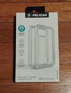 New Pelican Voyager Case w/Clip for Apple iPhone 11 Pro / iPhone Xs & X - Clear