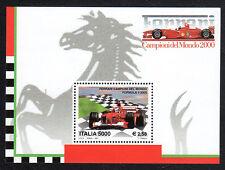 Italia Repubblica 2001 Foglietto Ferrari Campione del Mondo MNH**