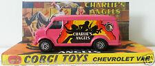 Corgi Juniors 1970s Charlie'S Angels 21 Chevrolet Van Model & Custom Display [C]