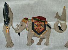 "Needlepoint Canvas CIRCUS ELEPHANT Signed by CNVSWKS 19"" x 19"""