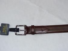 Polo Ralph Lauren belt Men's size 34 Saddle brown silvertone 405642556003 34/85