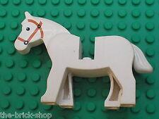 Cheval LEGO CHATEAU castle Minifig white HORSE 4493c02 / 6086 6080 6008 6769 ...