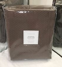 "Restoration Hardware Diamond Matelassé Shower Curtain 72"" x 72"" Brown NEW $99"