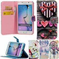 Flip Schutz Handy Hülle Cover Kartenfach Case Klapp Etui mit Motiv + Schutz Glas