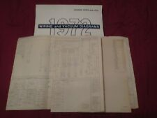 1972 FORD PARCEL DELIVERY WIRING VACUUM DIAGRAMS MANUAL SCHEMATICS SET