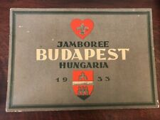 1933 BOY SCOUT JAMBOREE Budapest Hungary Sketch View Booklet RARE