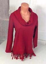 RAFAELLA Sweater Tassels Women's Medium NEW