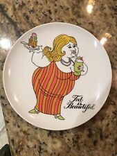 Fitz and Floyd Fat is Beautiful Decorative Display Collectors Plate Collectible