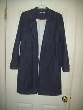 Waverly Grey Coat 6 Deana Made in USA Classic Chambray Lightweight Fall Trench
