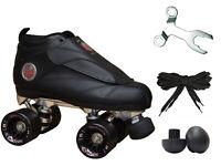 New Black Epic Skates Evolution Quad Roller Jam Speed Skates