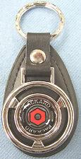 Rare Black PACKARD Mini Steering Wheel Leather Key Ring 1940 1941 1942 1943 1944