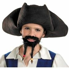DISNEY PIRATES OF THE CARIBBEAN JACK SPARROW HAT MUSTACHE GOATEE BEARD COSTUME