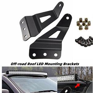 Refit Off-road Car Roof LED Windshield Mounting Brackets Light Strip Bracket