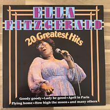 Ella Fitzgerald - 20 Greatest Hits - Vinyl LP - Very Good (VG/VG+) - 33004