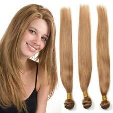 Straight Hair Color 27# Unprocessed Human Hair Weave Brazilian Virgin Extensions