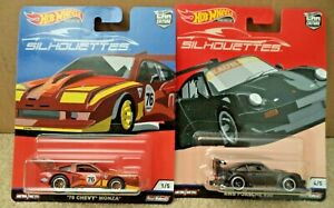 Hot Wheels  2019 Silhouettes Car Culture RWB Porsche 930 & '76 Chevy Monza *NEW*