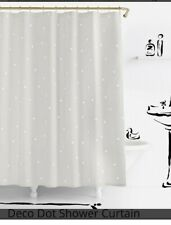 """Kate Spade """"Deco Dot"""" Fabric Shower Curtain - 72"""" x 72"""" Excellent Condition"""