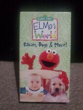 Elmo's World Babies,Dogs & More! VHS Tape Used Sesame Street