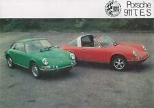 1970 PORSCHE 911T, E, S PROSPEKT BROCHURE CATALOGUE ENGLISCH