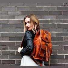 Men's Leather Backpack Bags Shoulder Briefcase Rucksack Laptop Bag Vintage