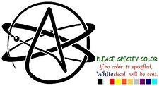 "NOTW Agnostic Atheist Symbol Funny Vinyl Decal Sticker Car Window laptop 9"""