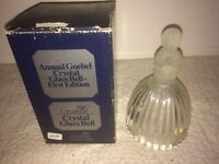 Annual Goebel Crystal Glass Bell First Edition 1978 w/ Box