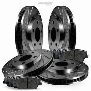 [FULL KIT] Black Drilled Slotted Rotors and Ceramic Pads BBCC.47033.02
