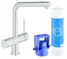 GROHE Blue Minta Pure Küchenarmatur für BWT-Filter L-Auslauf supersteel 31345DC2
