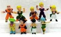 Dragon Ball set di 9 FIGURE gomma/plastica morbida misura cm. da 3,8 a 5,2
